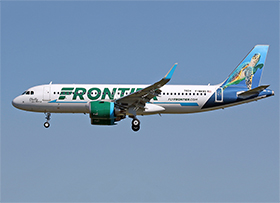 "Airbus A320-251N - cn 7824 - F-WWBS / N316FR - Frontier Airlines ""Shelly the sea turtle"" - (Photo : A.C.)"