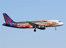 "Airbus A320-214 - Brussels Airlines - ""Tomorrowland Amare"" - OO-SNF - (Photo : A.C.)"