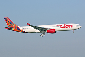 Airbus A330-343 - Thai Lion Air (hybrid livery as the a/c was initially planned for Batik Malaysia.